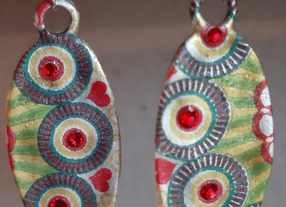 Ethnic Silver Earrings Millonga Collection E4