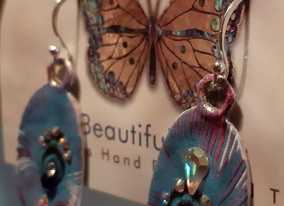 Feather Silver Earrings Millonga Collection E2