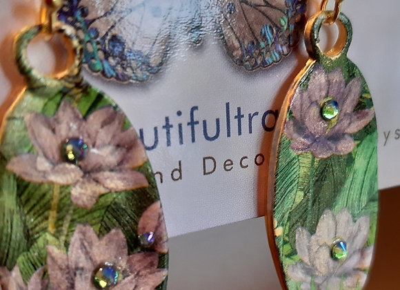 Floral Gold Earrings Millonga Collection E3