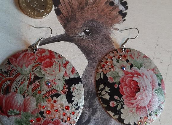 Rose Garden Metallic Earrings with Swarovski