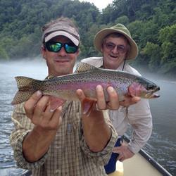 #ashevillefishing #wataugariver #rainbow