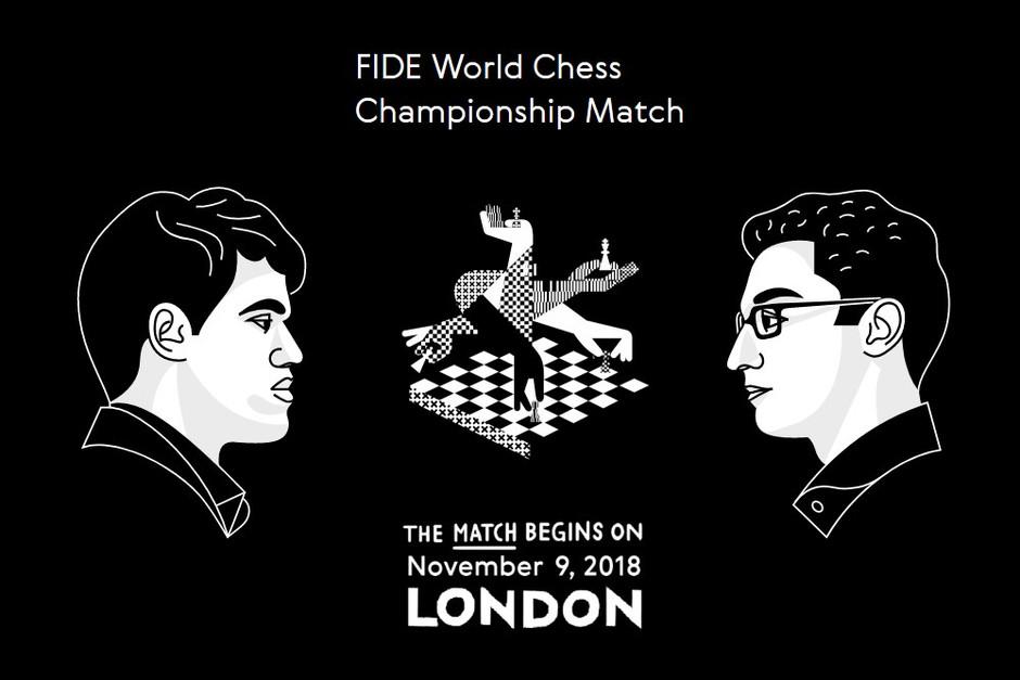 Carlsen v Caruana, London, UK 2018