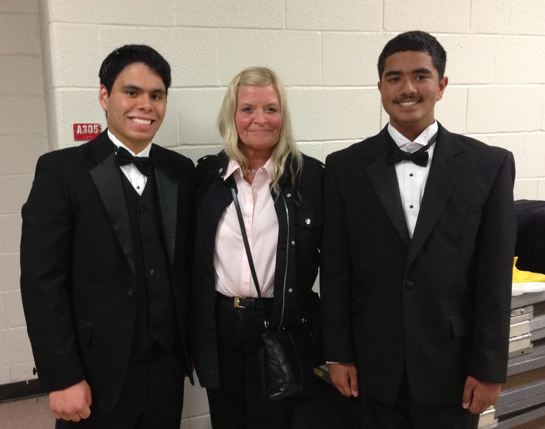 Kathy with Rahul & Edwin