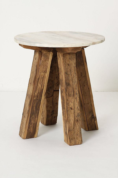 Приставной столик с мраморным верхом