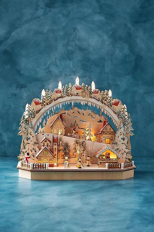 """Рождественское украшение """"Alpine Light-Up Village"""""""