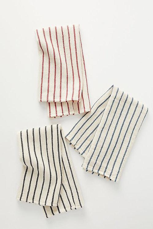 Полосатые вафельные полотенца для посуды. Набор из 3
