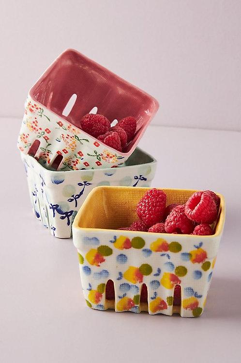 Цветочная керамическая корзинка