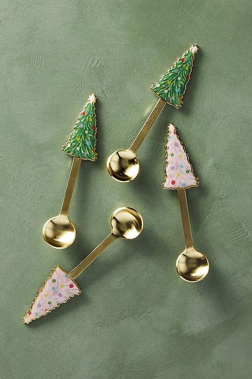 """Чайные ложки """"Holiday Tree"""". Набор из 4"""