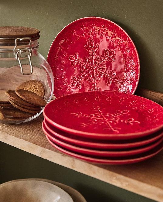 Десертная тарелка «Снежинка»