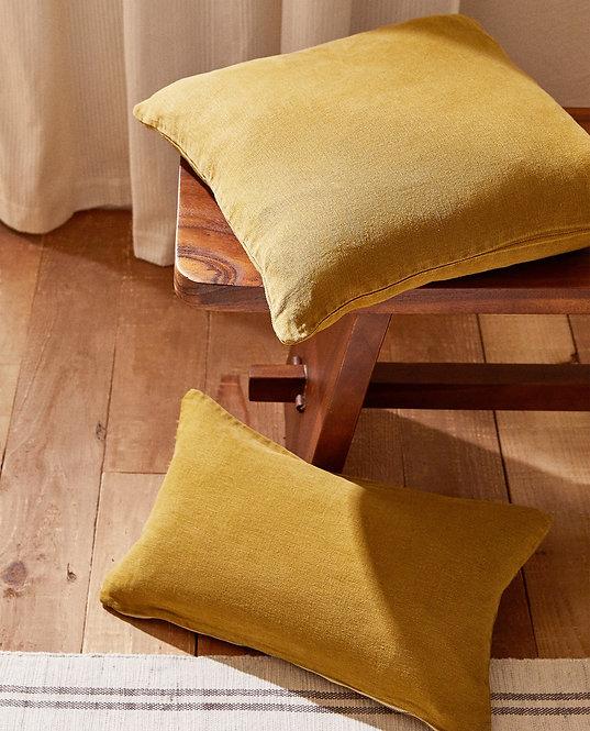 Однотонный льняной чехол для декоративной подушки