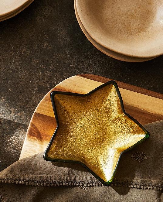 Миска из стекла в форме рождественской звезды