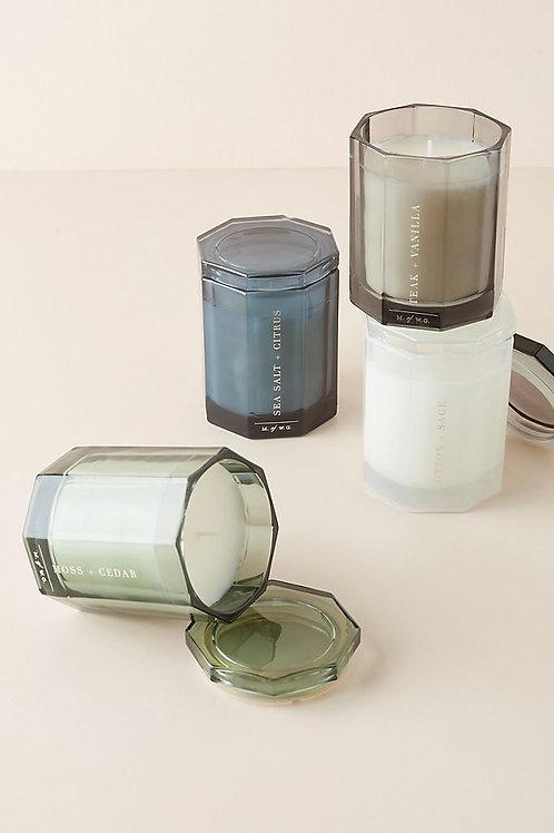 Восьмиугольная стеклянная свеча от Makers of Wax Goods