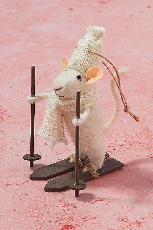 "Украшение ""Mouse on Skis"""