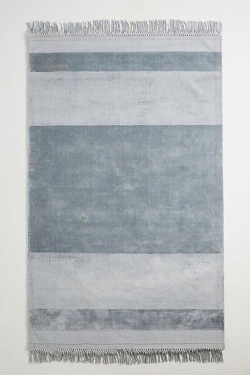 Полосатый вискозный коврик ручной работы