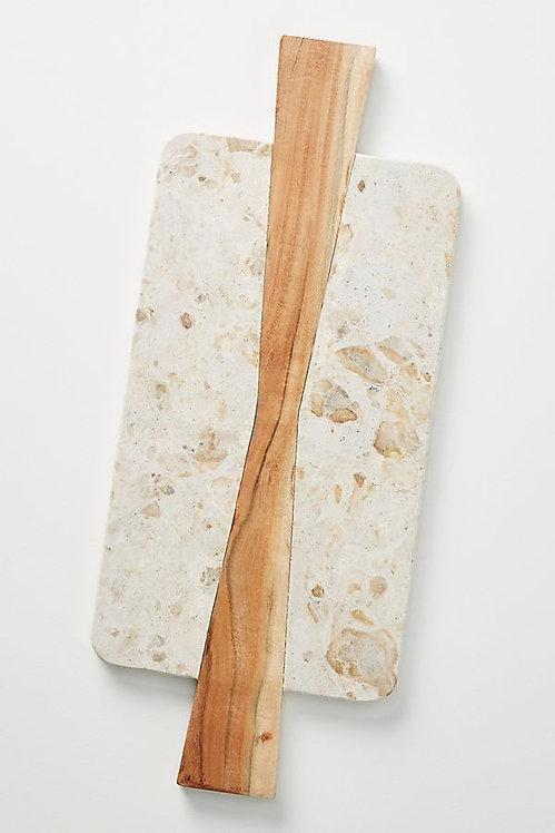Деревянная доска из мрамора акации