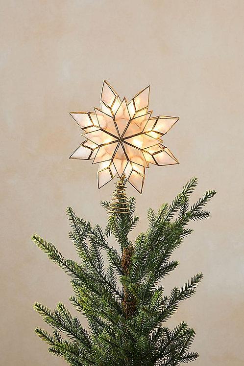 """Топпер для рождественской ели """"Capiz Star Light-Up"""""""
