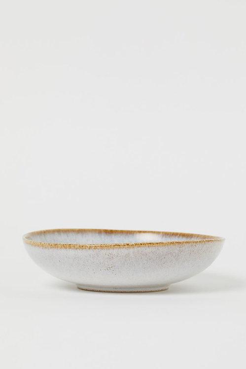 Глубокая керамическая тарелка