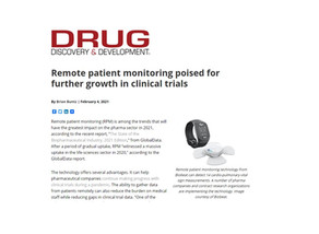 Remote patient monitoring poised for further growth in clinical trials