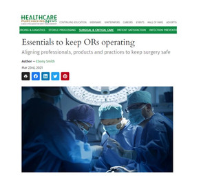 Essentials to keep ORs operating - Article featuring Biobeat's CMO