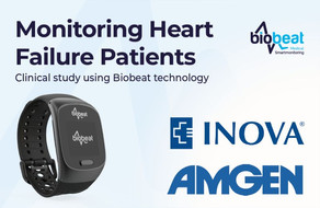 Biobeat's devices in a joint clinical study by Inova Heart and Vascular Institute and Amgen