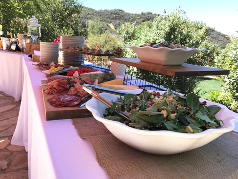 Lake Sherwood Bridal Shower Sunshine Salad, Charcuterie and Gluten Free Penne a la Familia