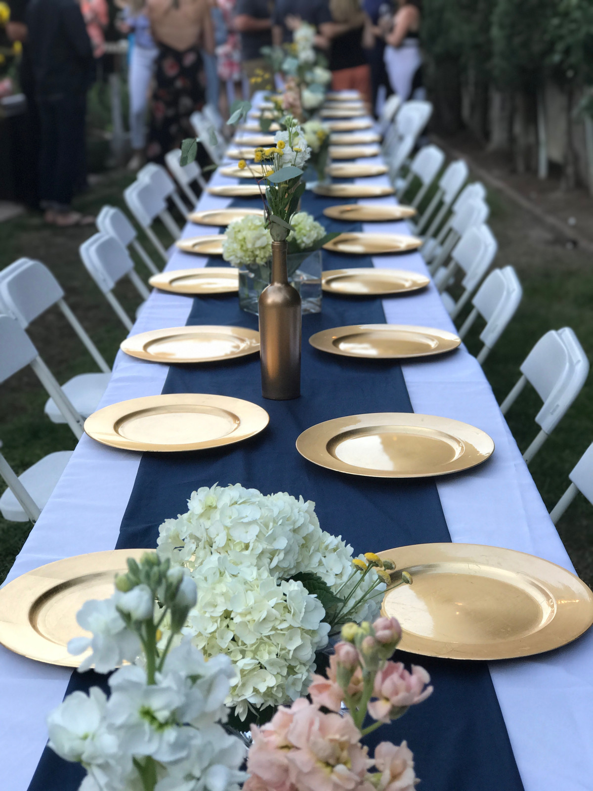 LocalLove805 Blogger Backyard Birthday Party Navy Blue, White and ...