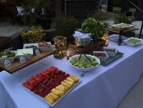Late Summer Wedding Taco Bar