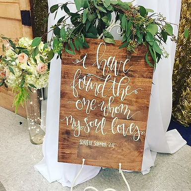 Large Wood Signs