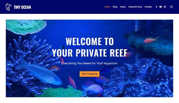 Tiere & Haustiere website templates – Fish Supplies Store