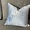 Thumbnail: 16 in. Dusty Blue Velvet Throw Pillow Cover