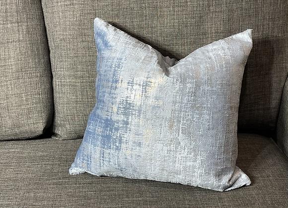 16 in. Dusty Blue Velvet Throw Pillow Cover