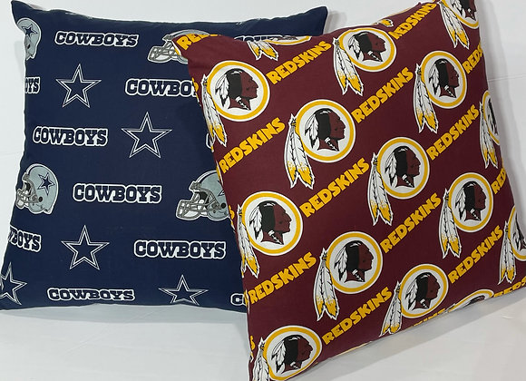 Sports Team Throw Pillow Set