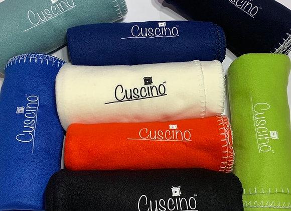 Cuscino Embroidered Fleece Throw Blanket