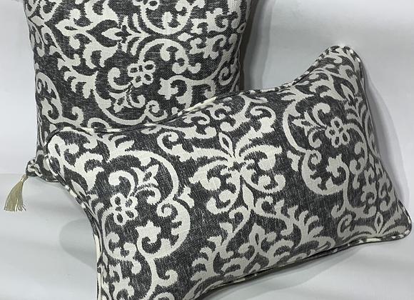Shadow Damask Graphite Pillow Set