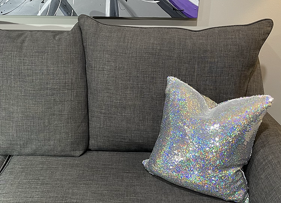 16 in. Reversible Holographic Sequin Fabric Pillow Cover