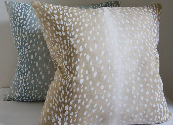 Vern Yip Fawn/Deer/Antelope Pattern Throw Pillow