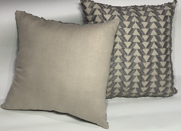 18 in Fringe Benefits Pewter Pillow Set