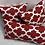 Thumbnail: Red and White Fynn Lipstick Pillow Set