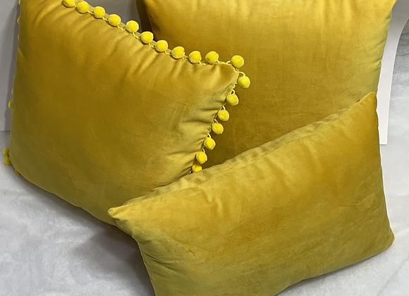 Majestic Velvet Gold Pillow Set