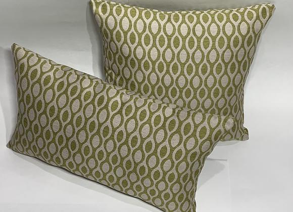 Olive and Tan Jacquard Pillow Set