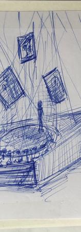 schets als pitch voor de voorstelling 'Halfweg' van Dichi Wit i.s.m. productie podiumkunsten