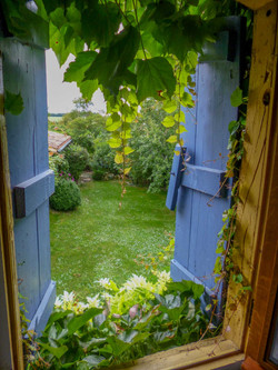 Out my bedroom window in France