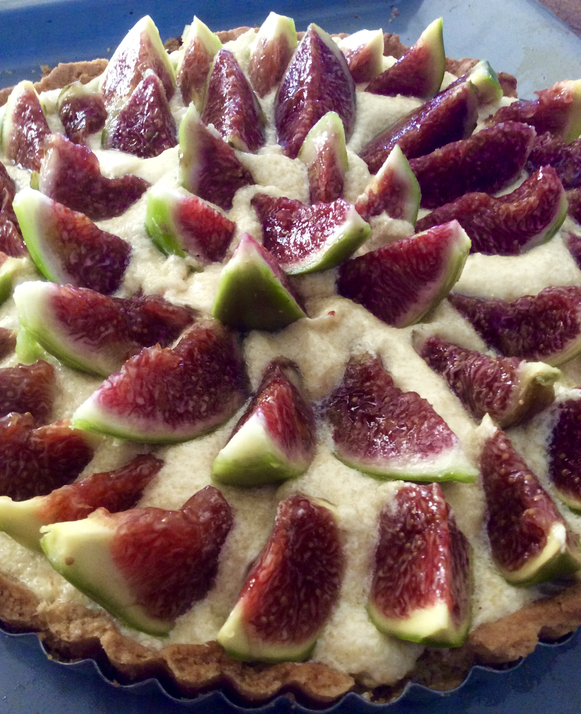 Fig Frangipane tart Greece