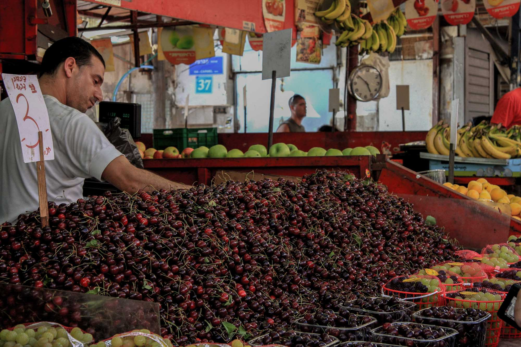 Cherries in Carmel Market - Tel Aviv