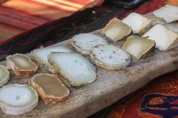Goats cheese in Golan Heights