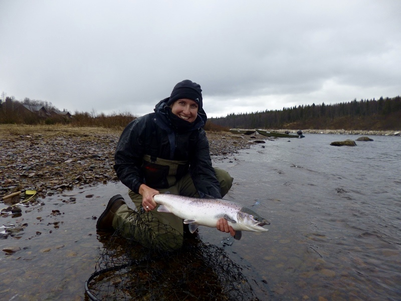 Salmon fishing in Russia