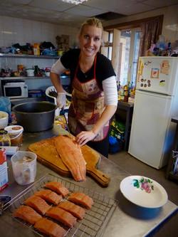 Preparing Salmon in Northern Russia