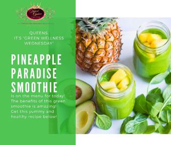 Pineapple Paradise Green Smoothie!