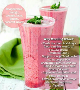 A easy morning detox smoothie that you are going to love!