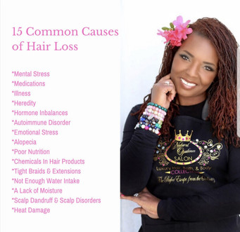 15 common causes of hair loss!